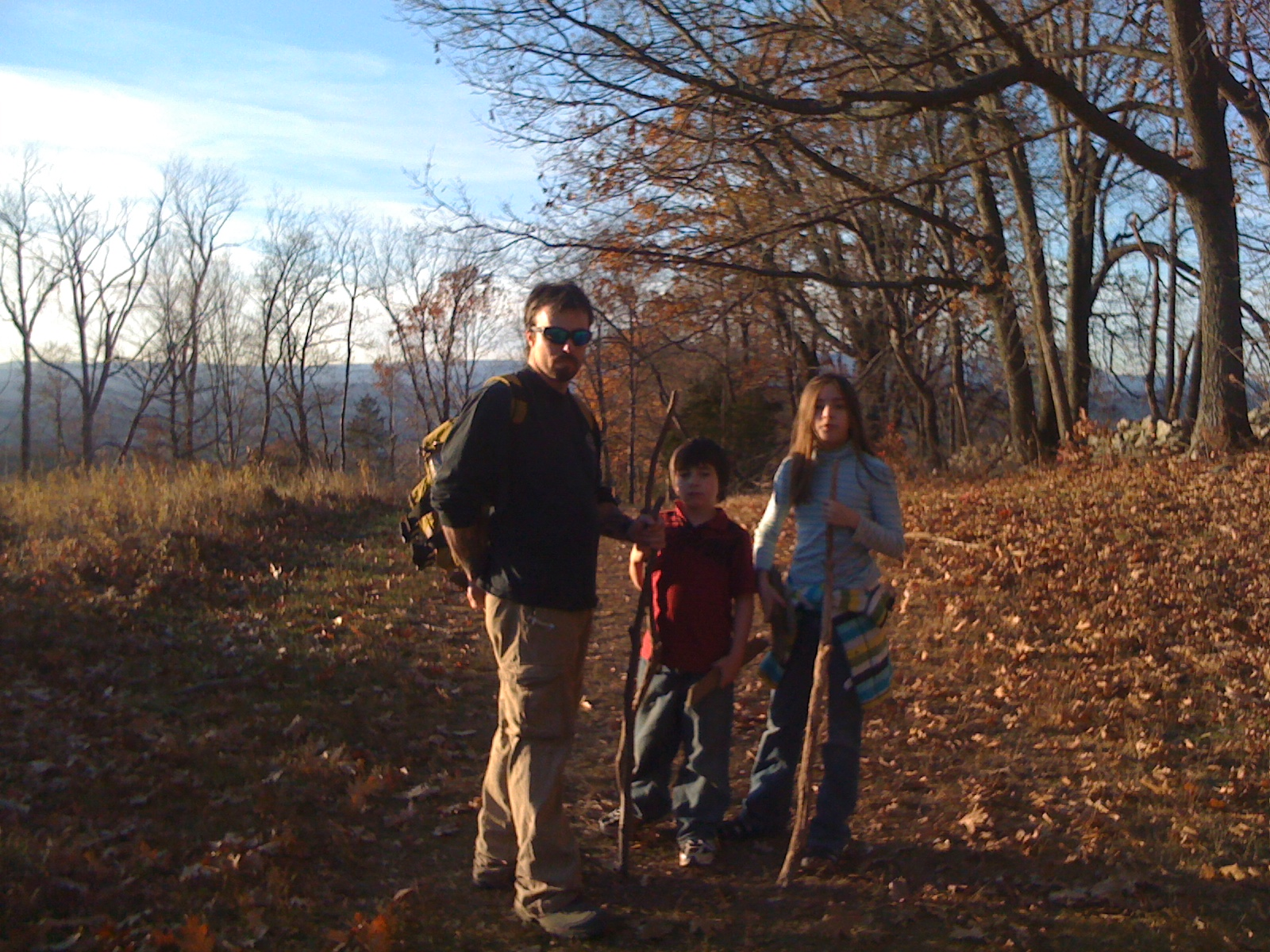 hiking with family
