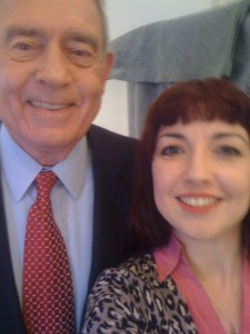 Claudia D'Arcy Interviewing with Dan Rather