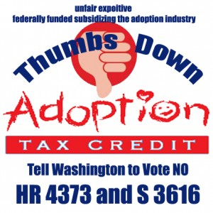 Vote NO to the adoption tax credit