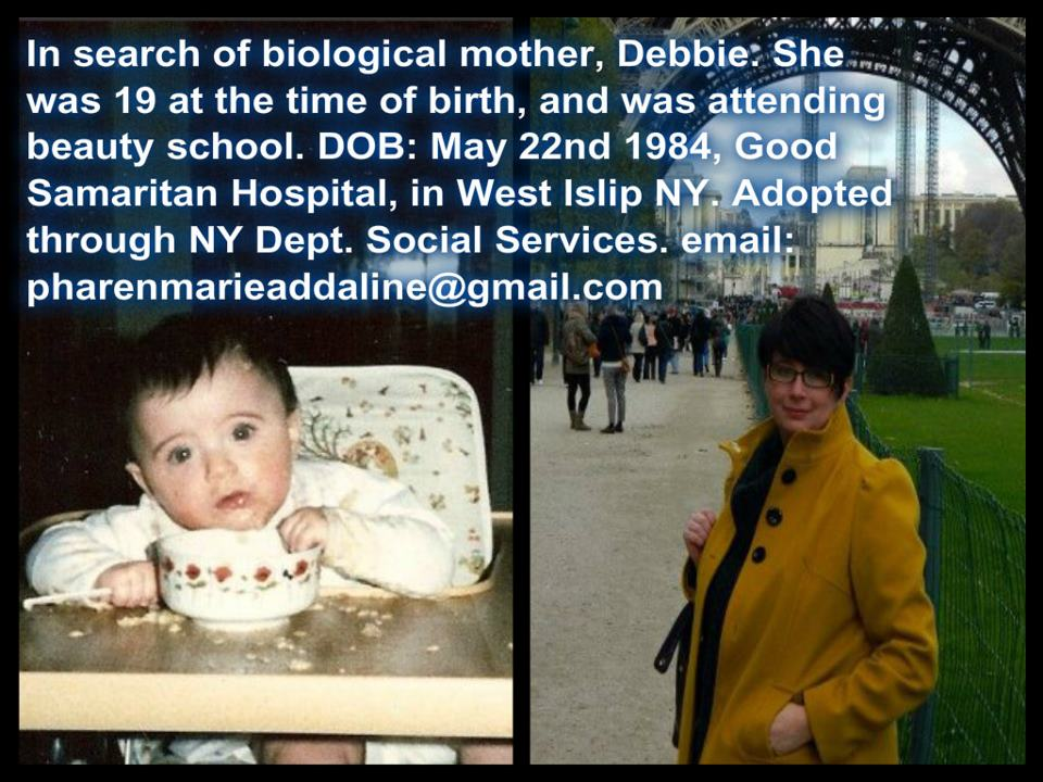 May 22 1984 female adoptee NY ISO
