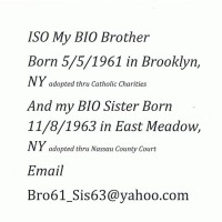 Searching for adopted sisiter dob 11-8-1963 long island new york