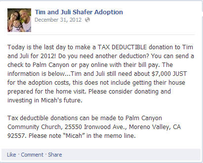 adption fundrasier tax fraud