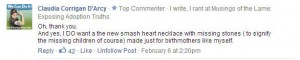 smashed heart ncklace comment
