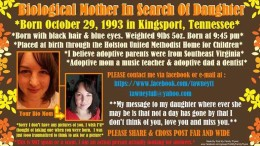 October 29, 1993 Searching for My Daughter 10-29-1993 Kingsport, TN