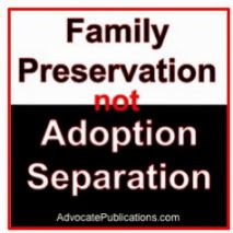 family preservation not adoption separation
