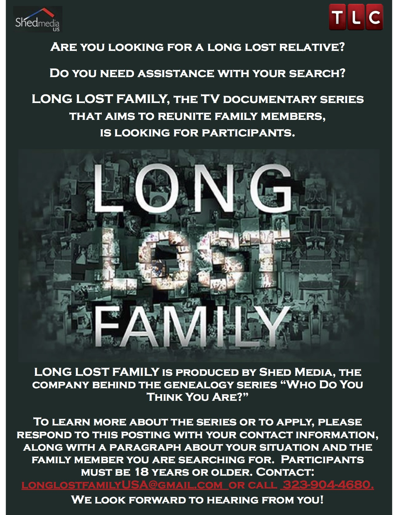 Long Lost Family New Adoption Search Tv Show Looking For